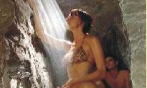 La grotta con doccia